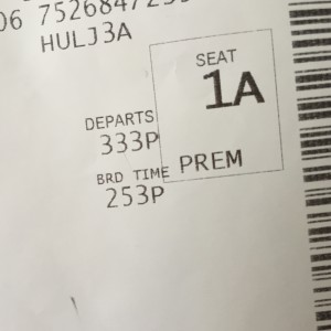 The perks of being a Delta Medallion member! [It was a short flight... but I'll take it!]